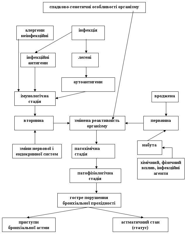 Схема 2. Патогенез алергічної